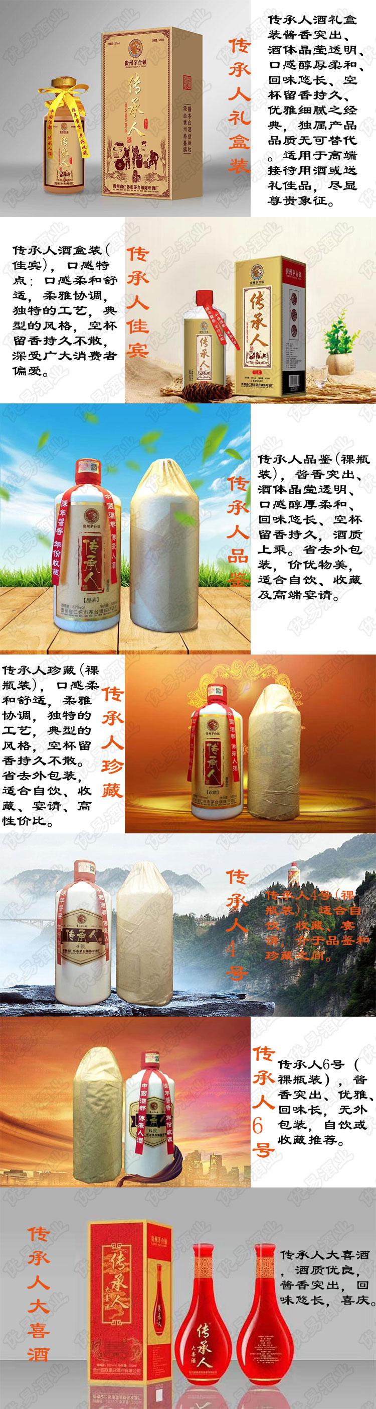 传承人酒产品介绍